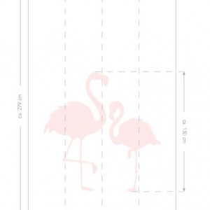 Dream Rooms - Papel de parede Mural Flamingos
